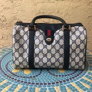 Navy Boston Gucci Bag